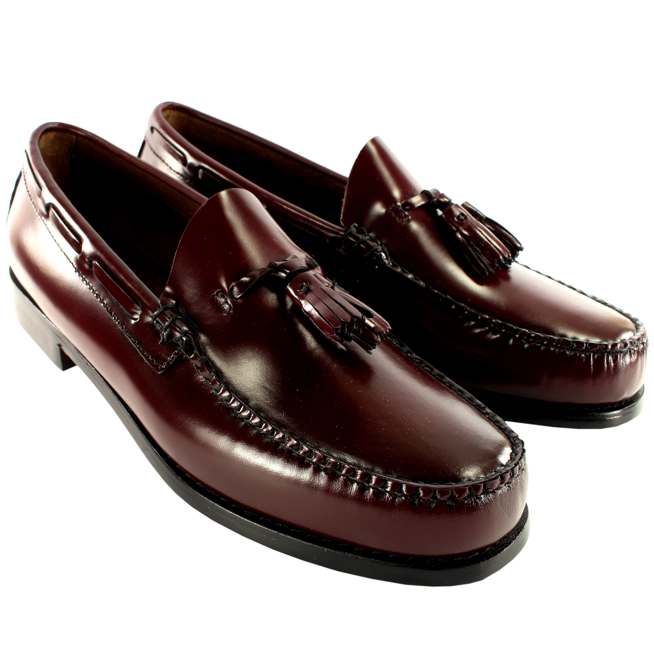 Product Features Two-tone leather dress shoe featuring contrast welt and brogue punch trims.