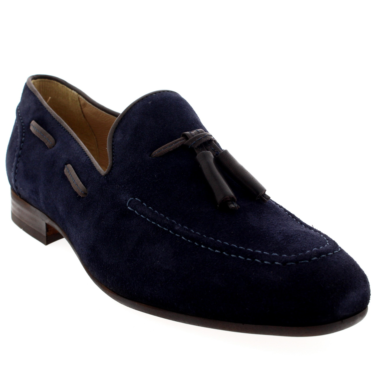 Mens H By Hudson Pierre Suede Formal Office Work Loafers Tassel Shoes All Sizes | EBay
