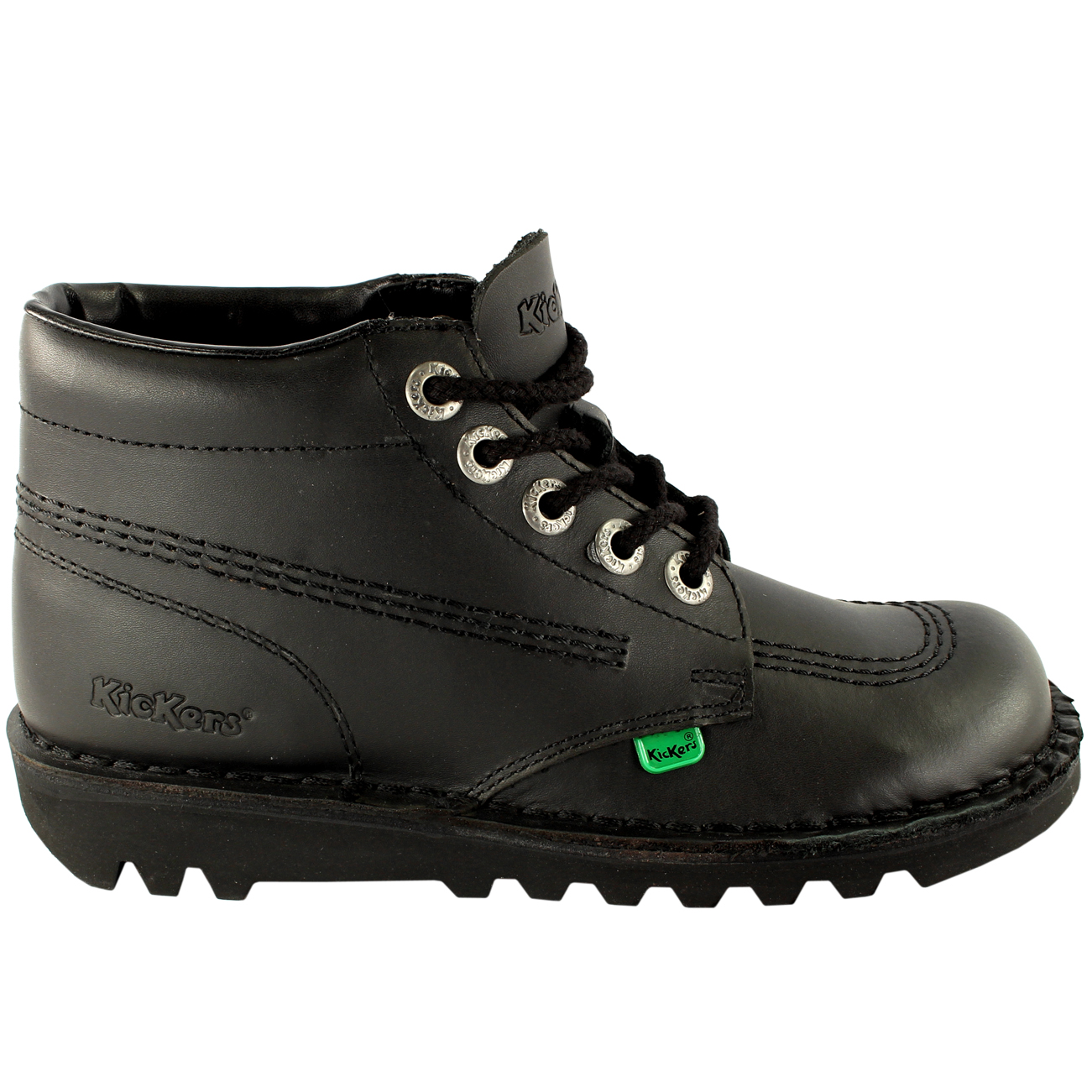 Ladies Kickers Kick Hi Core Classic Leather Office Work Boots Shoes All Sizes | EBay
