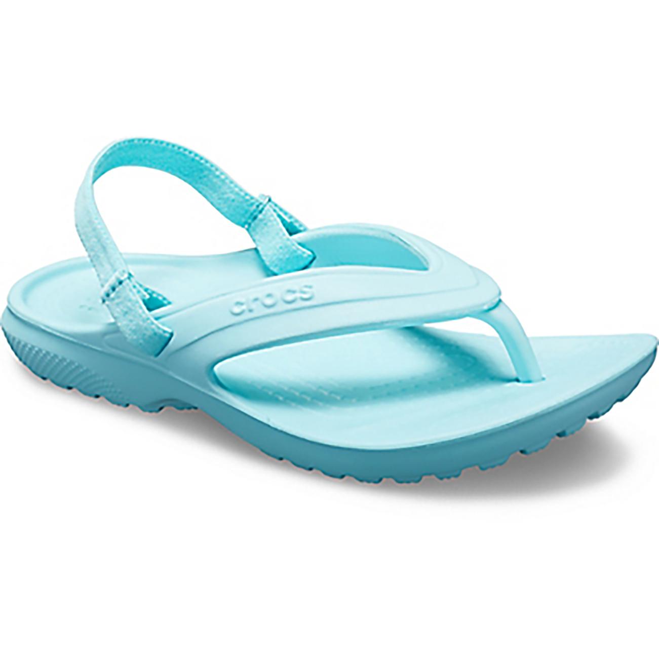 Unisex Kids Crocs Classic Flip K Summer Pool Sea Rubber Shower Sandals All Sizes