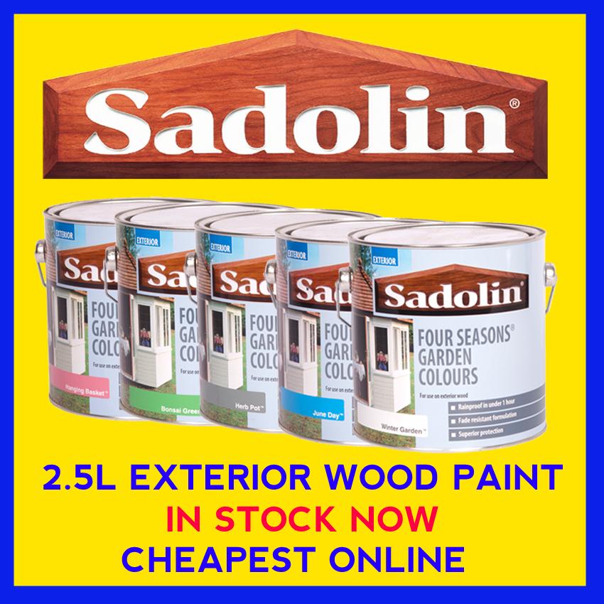 Sadolin four seasons exterior wood paint 2 5 litre ebay - Exterior wood paints model ...