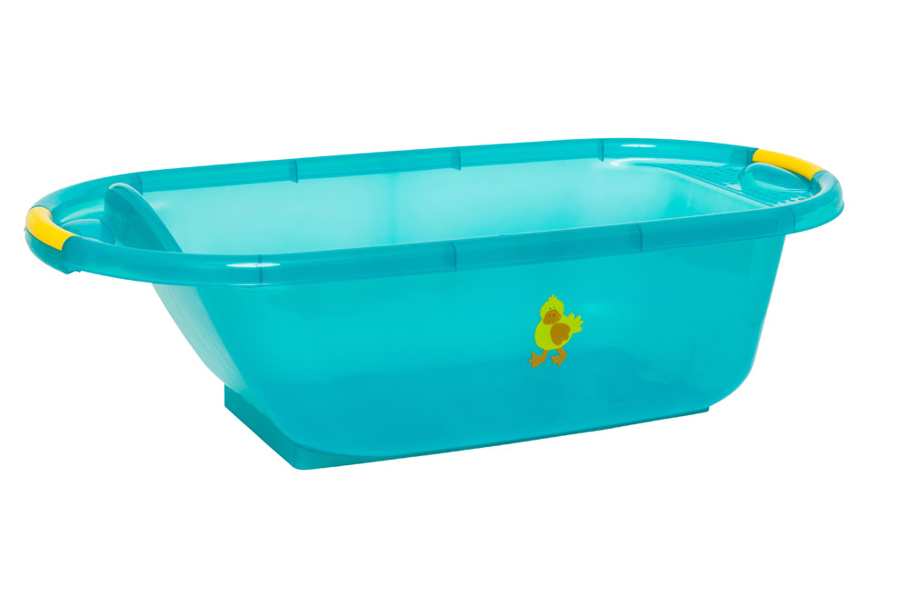 strata large plastic baby bath tub duck teal ebay. Black Bedroom Furniture Sets. Home Design Ideas