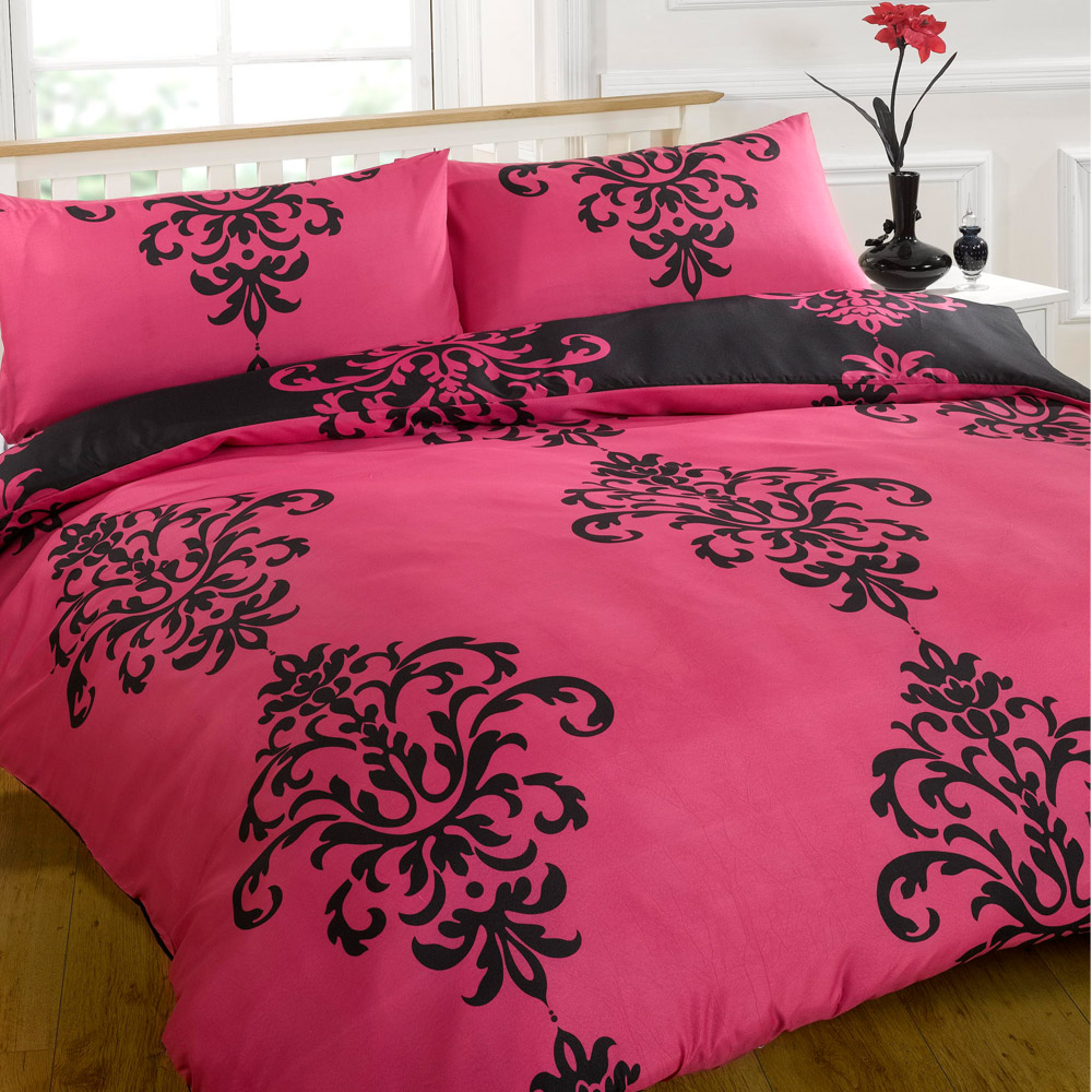 housse couette rose fushia. Black Bedroom Furniture Sets. Home Design Ideas