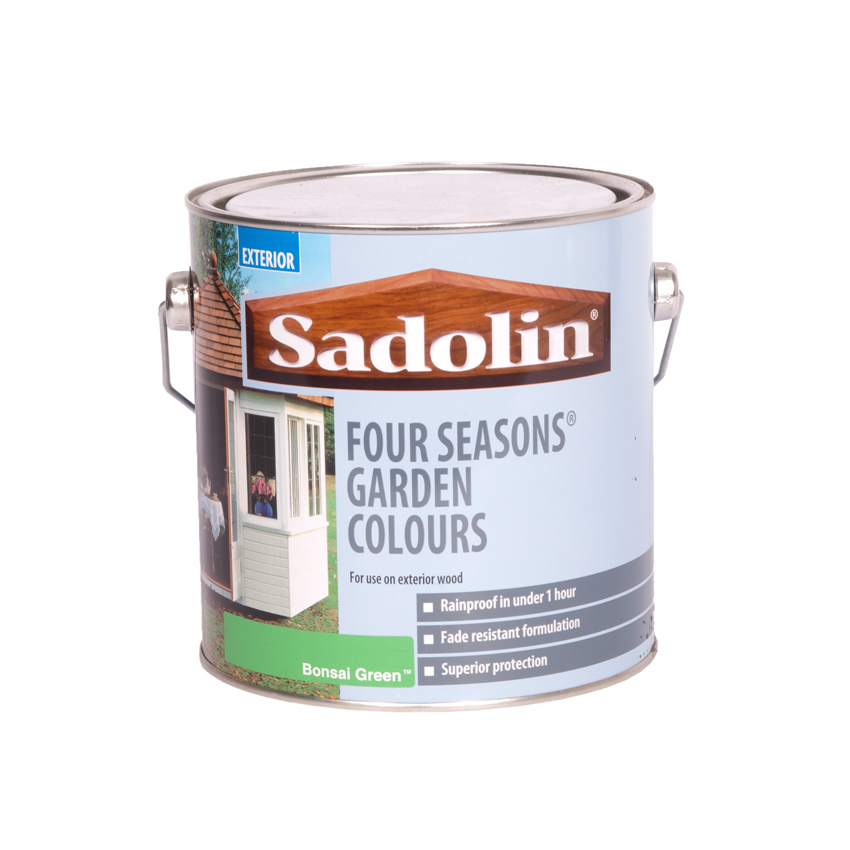 Sadolin four seasons exterior wood paint 2 5 litre ebay - Sadolin exterior wood paint image ...
