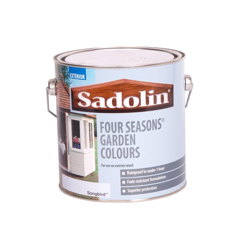 DIY Sadolin Four Seasons Exterior Wood Paint - Songbird - 2.5 Litre