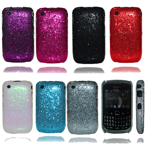For BlackBerry Curve 8520/9300 Jewelled/Bling Sparkle Glitter Case/Cover