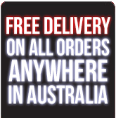 Free Delivery On All Orders Australia Wide