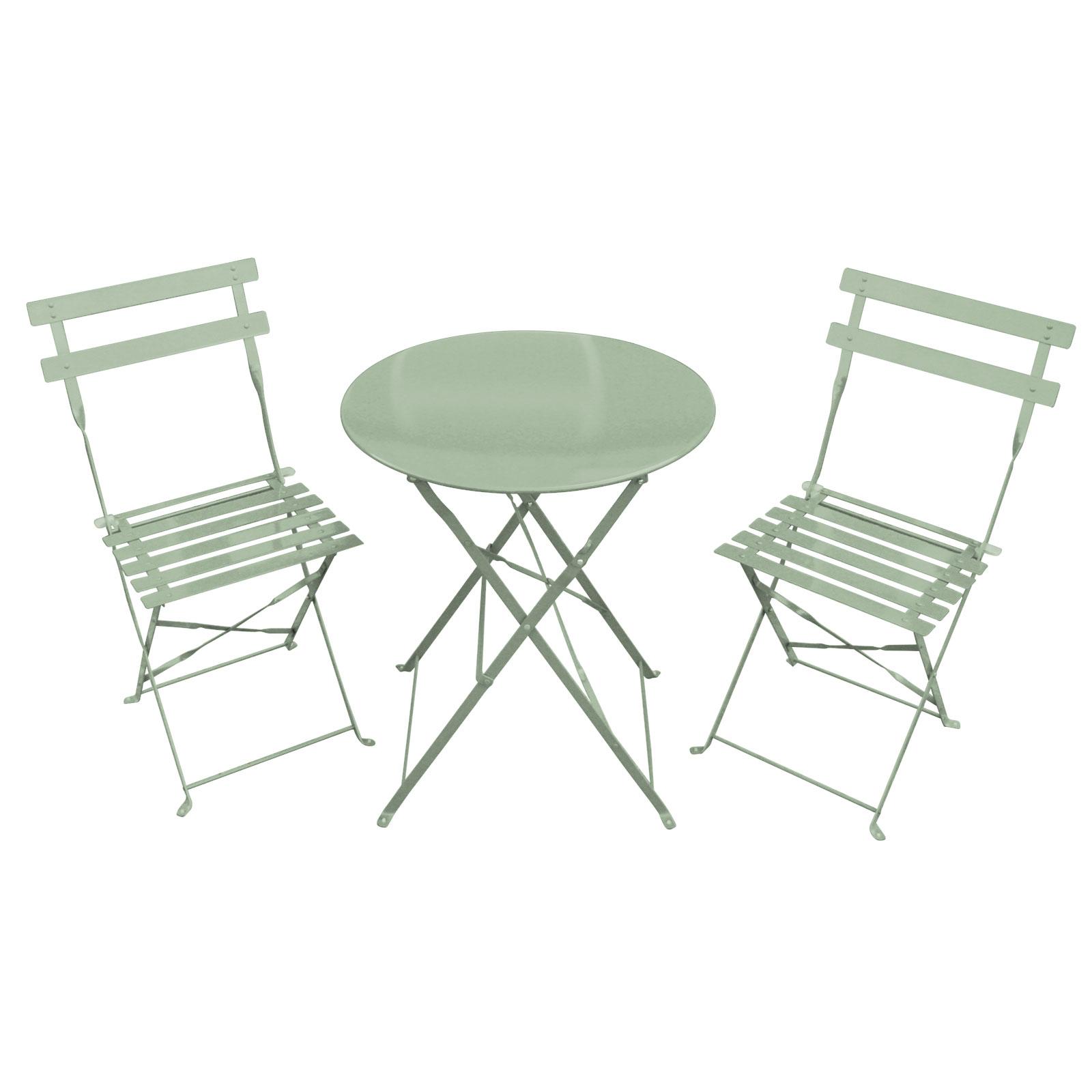 Bentley Garden 3 Piece Metal Garden Patio Furniture Bistro Set Table & 2