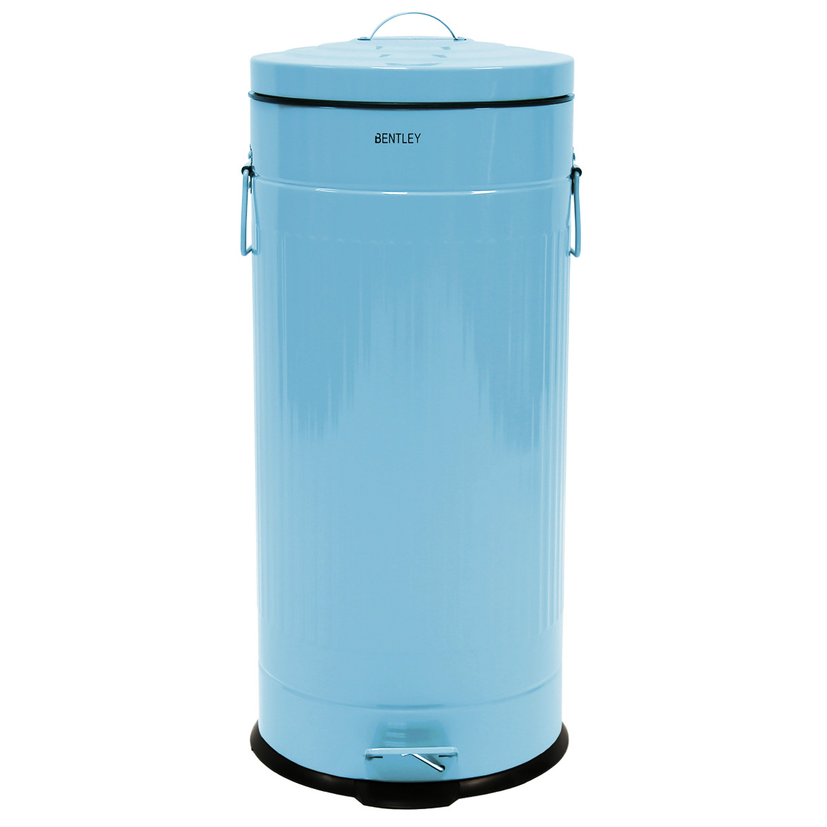 Charles Bentley 30L Retro Steel Waste Rubbish Kitchen Pedal Bin ...