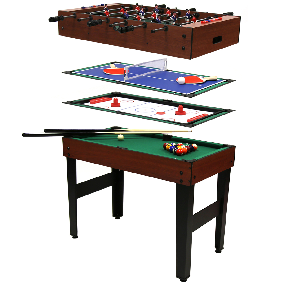 Mesa multijuegos 4 en 1 billar hockey de mesa futbol n for Table 4 en 1 intersport