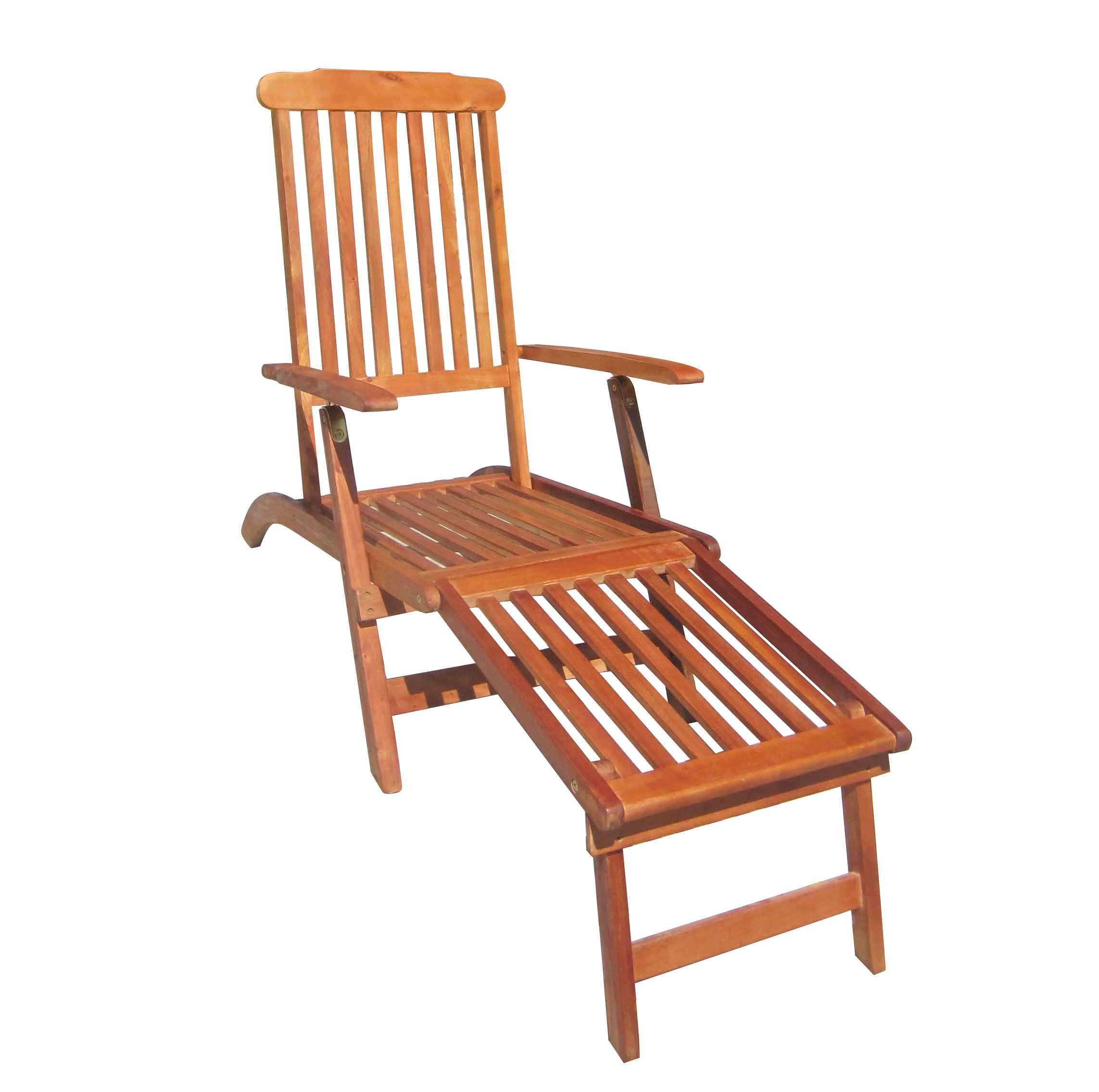 charles bentley hardwood folding steamer chair sun lounger