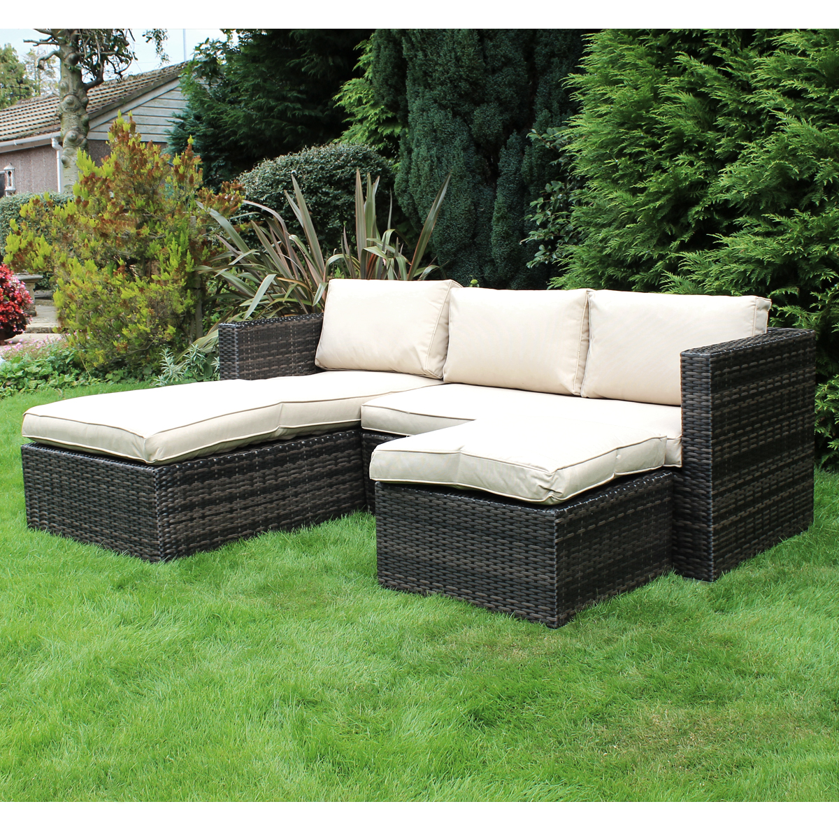 charles bentley garden l shaped rattan corner sofa outdoor