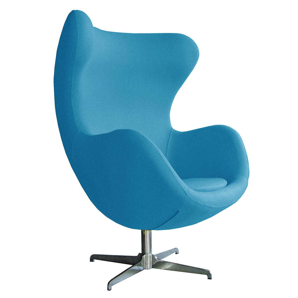 Retro Arne Jacobsen Inspired Designer Swivel Wool Egg