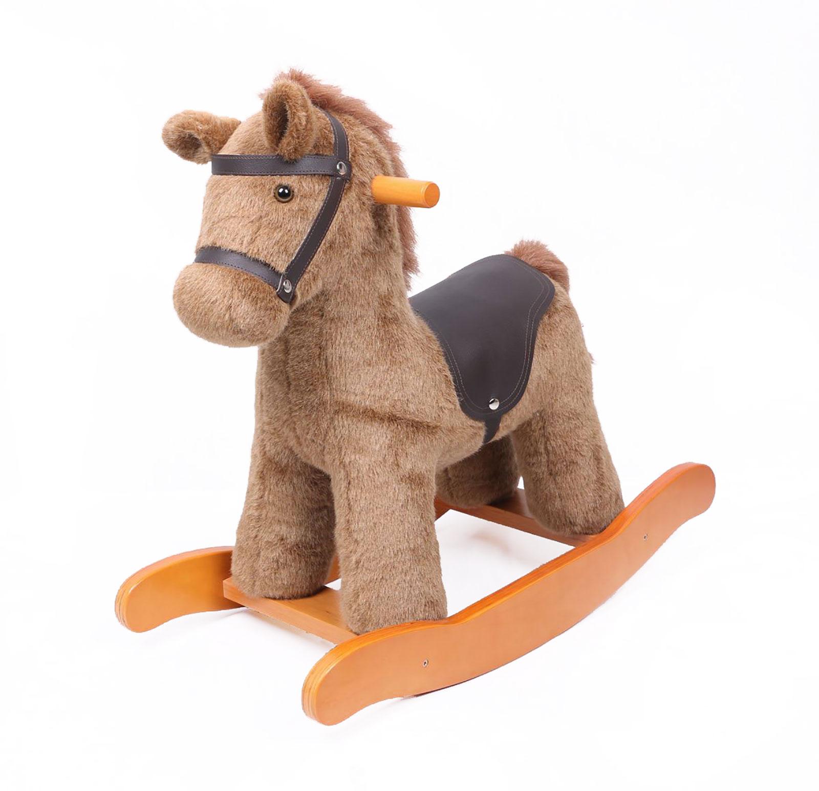 charles bentley wooden rocking horse nursery infant rocker pony animal toy brown ebay. Black Bedroom Furniture Sets. Home Design Ideas