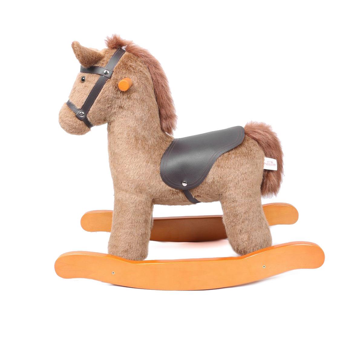 Charles Bentley Wooden Rocking Horse Nursery Infant Rocker