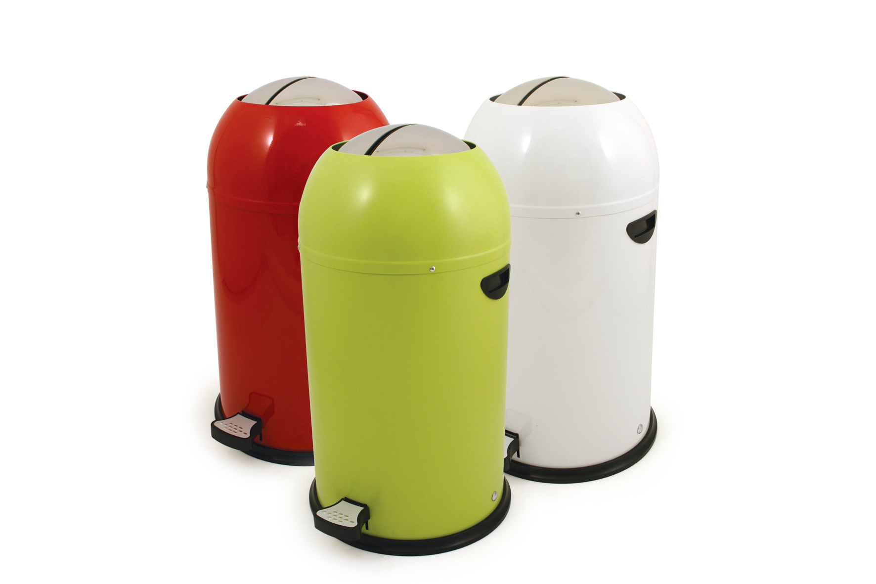 butterfly kitchen pedal bin 33l in lime green red white ebay. Black Bedroom Furniture Sets. Home Design Ideas