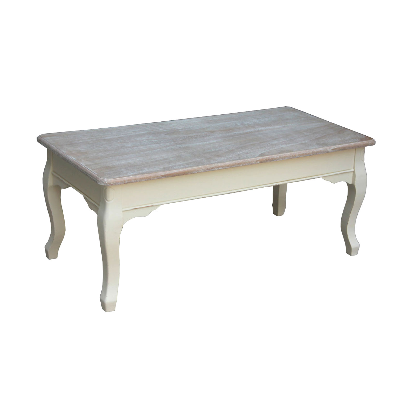 Charles bentley cream maison vintage coffee table wooden for Antique cream coffee table