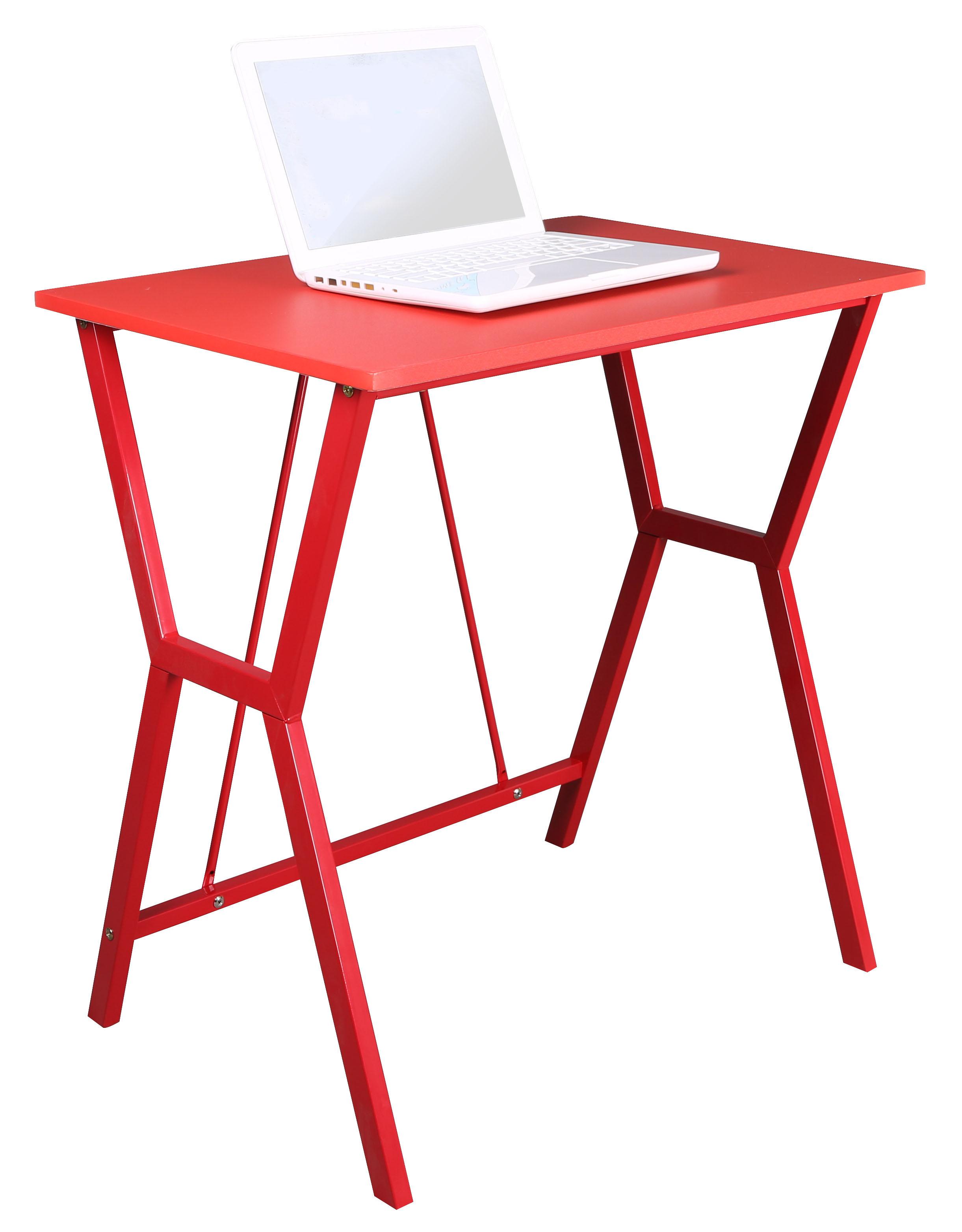 Bentley Red Office Workstation Computer Laptop Desk With Steel Frame Ebay