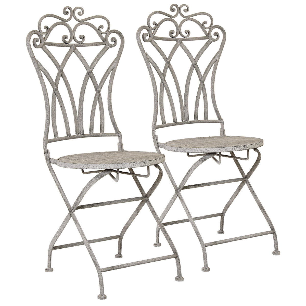 Ornate Metal Folding Bistro Chair Buy Ornate Metal  : glflochair02 charles bentley florence pair of wrought iron chairs with wooden base 1 from joshandira.com size 1200 x 1200 jpeg 242kB
