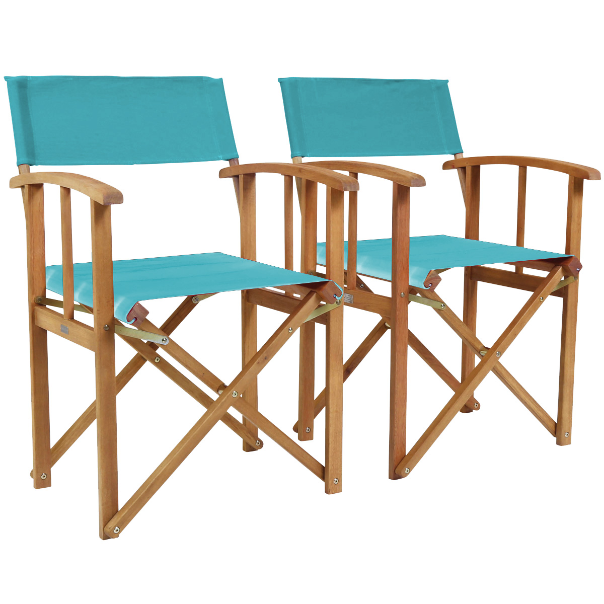 Wooden Directors Chairs charles bentley pair of folding wooden directors chairs fsc