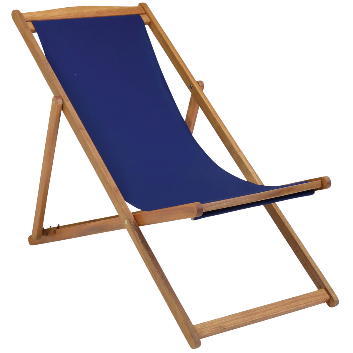 Charles Bentley Garden Wooden Beach Deck Chair Folding Foldable Various Colou