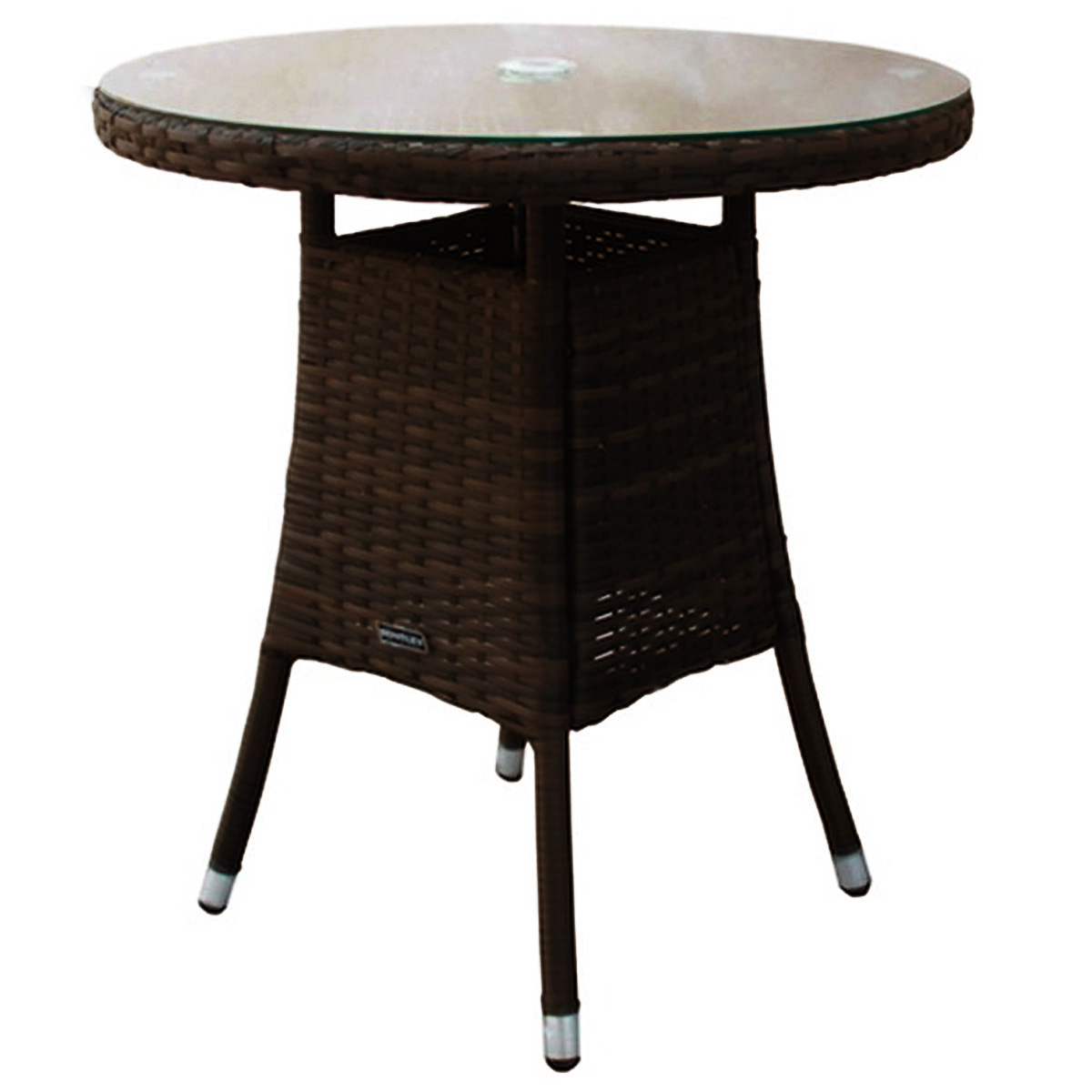 Indoor Outdoor Small Round Rattan Dining Table Brown Black EBay