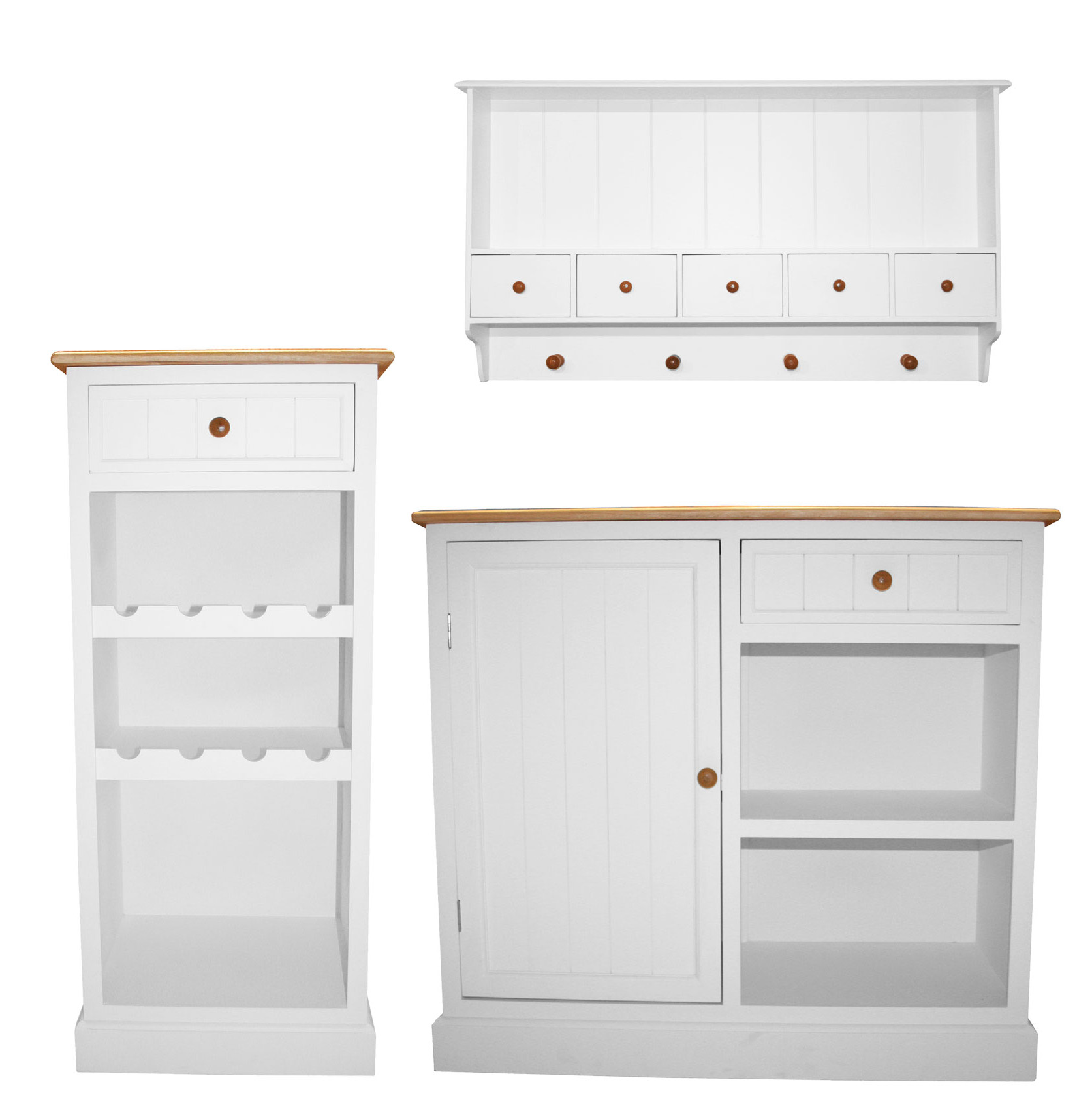 Charles bentley white traditional country kitchen wall for Kitchen display wall