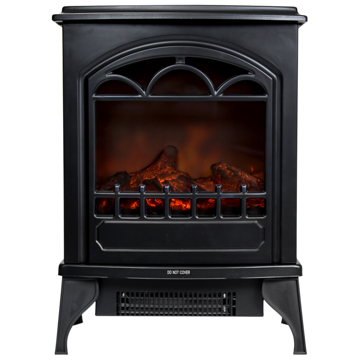 Black Electric Stove ~ Charles bentley freestanding electric fire stove log flame