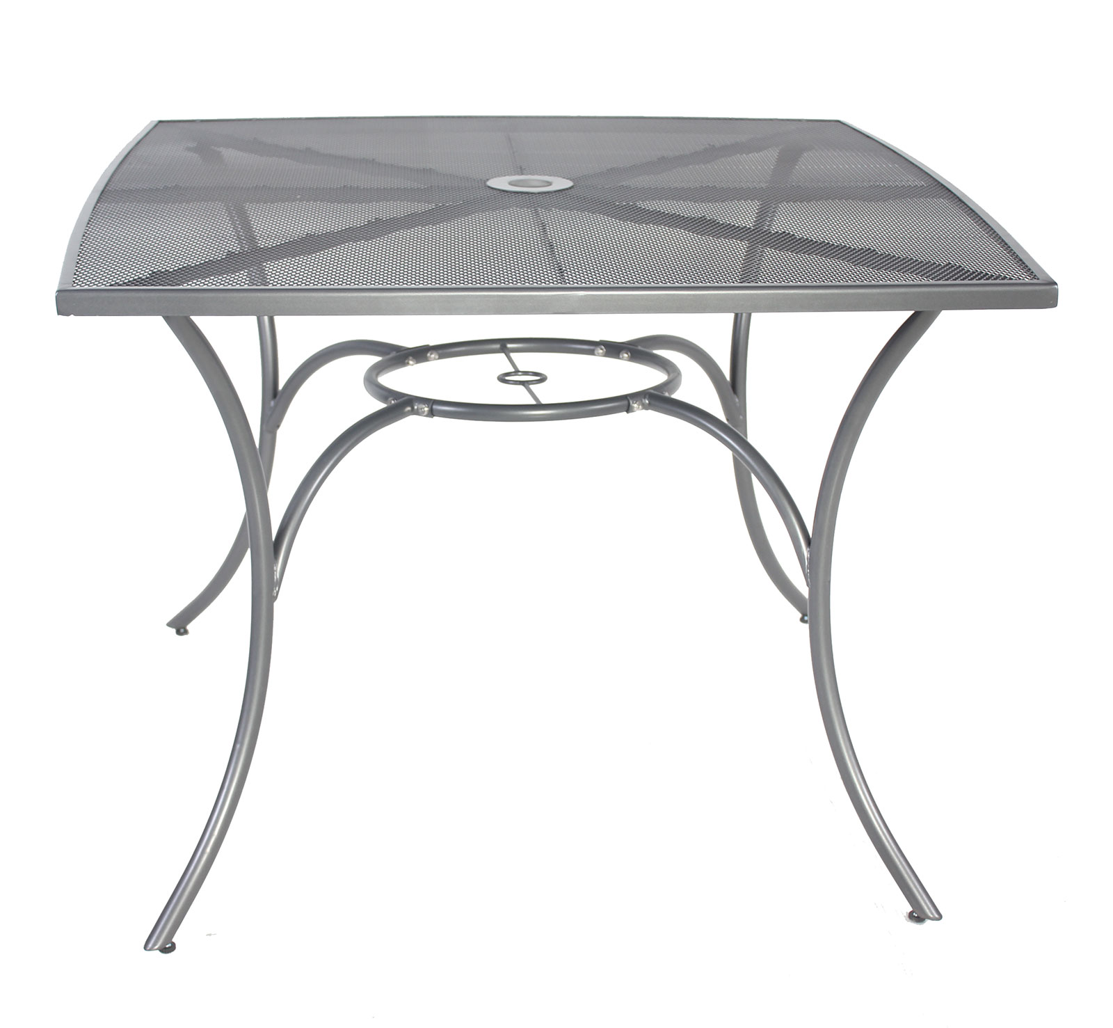 Charles bentley outdoor metal mesh 5 piece table and - Metal garden table and chairs ...