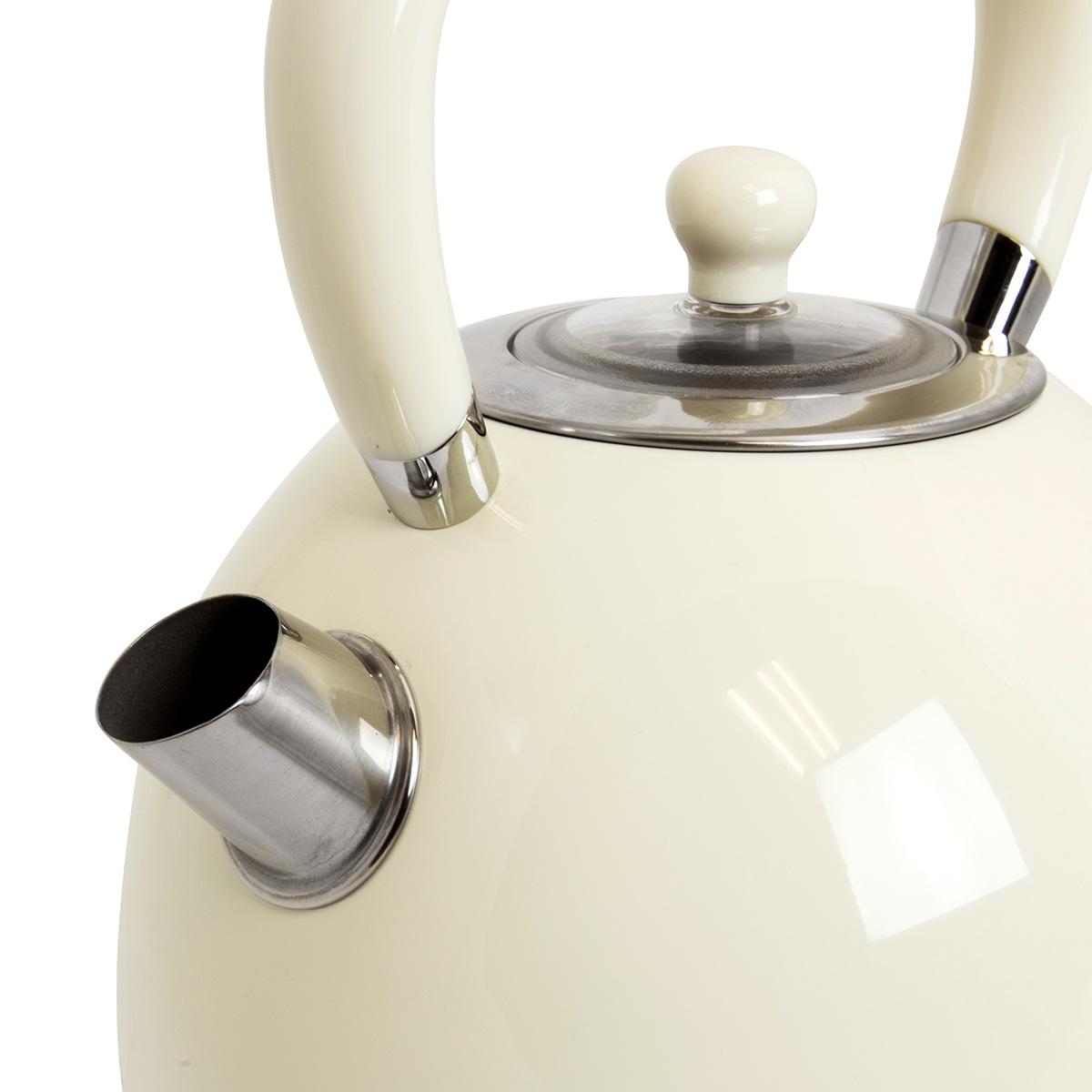 Charles Bentley 3000W 1.7 Litre Cream Dome Kettle Fast Boil 360 Swivel Base