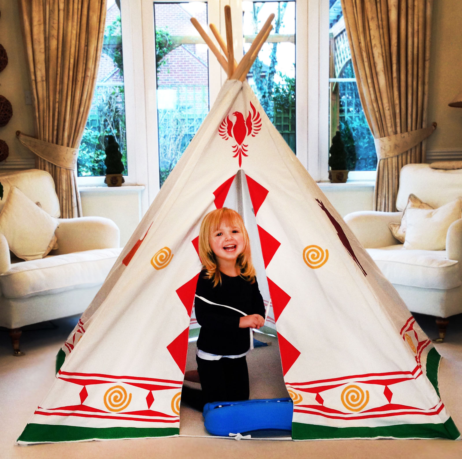 bentley kids spielzeug indianerzelt tipi wigwam f r. Black Bedroom Furniture Sets. Home Design Ideas