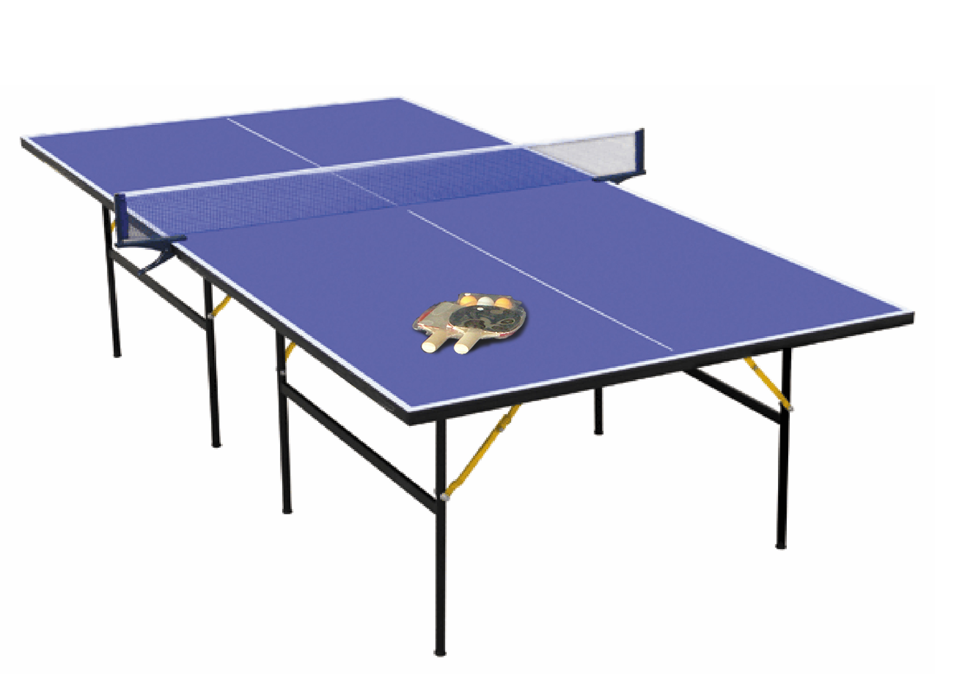 Charles bentley full size 9ft folding table tennis indoor - Full size table tennis table dimensions ...