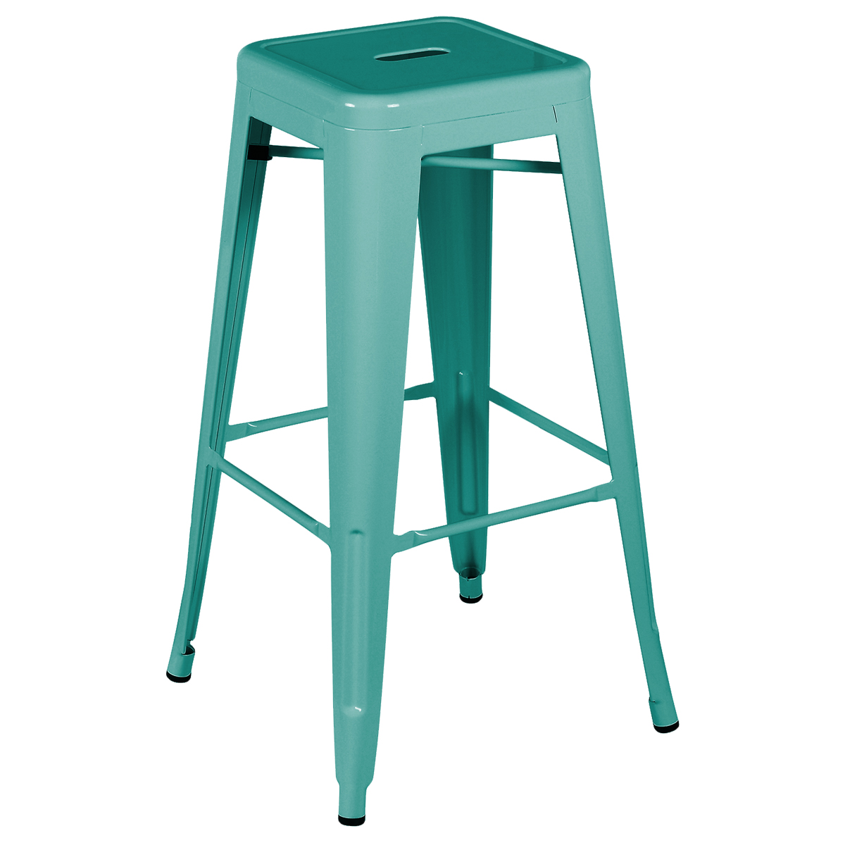 Charles Bentley Metal French Tolix Style High Bar Stool