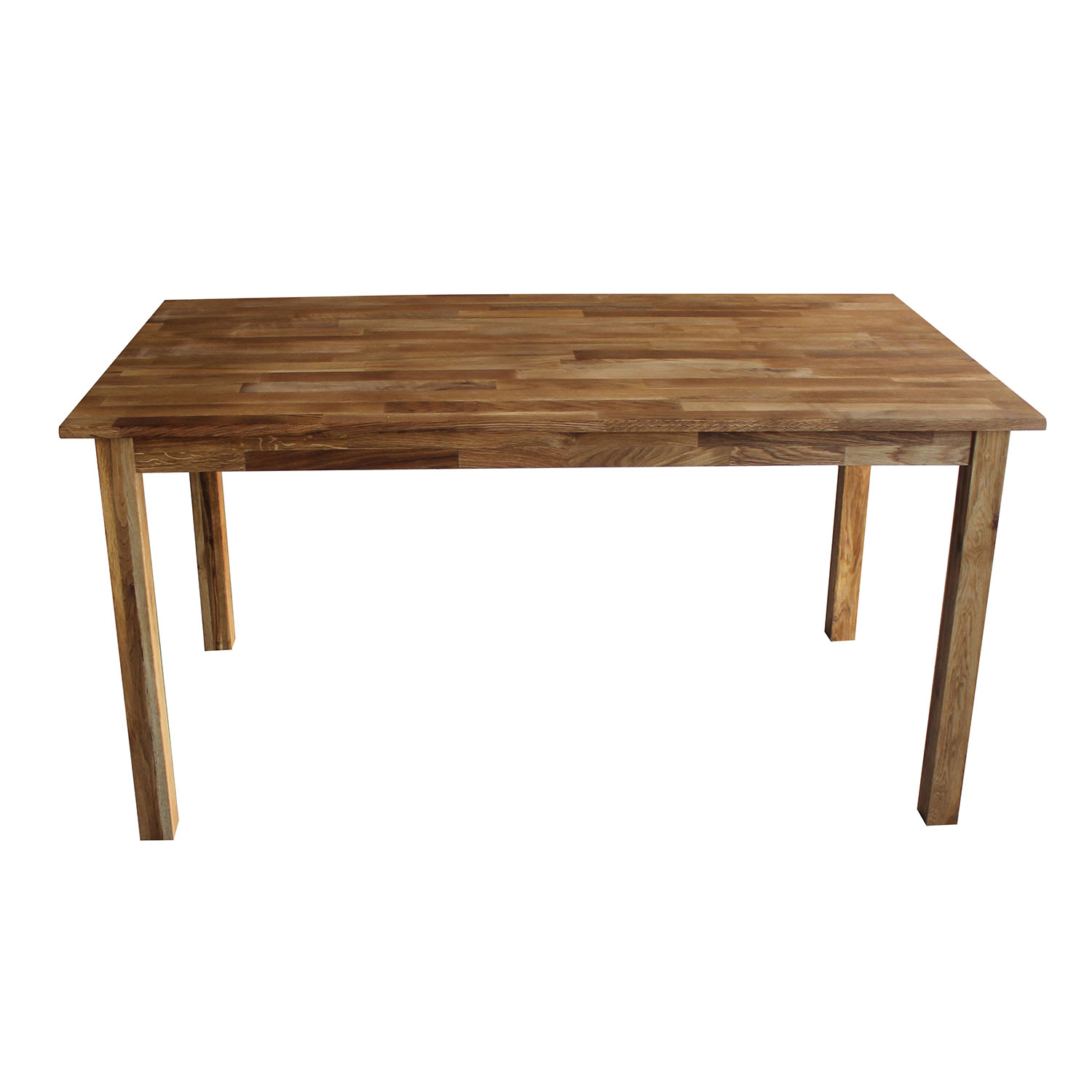 Charles bentley solid oak 6 8 seater wooden dining table for Solid oak dining table