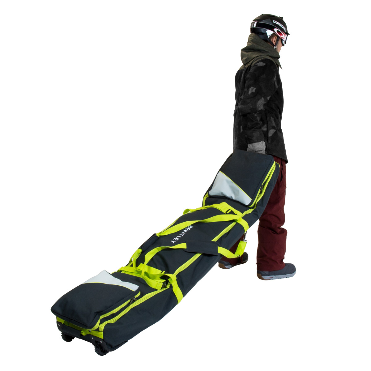 Blau oder Rosa /& Schwarz kariert Bentley Snowboardtasche mit Rollen