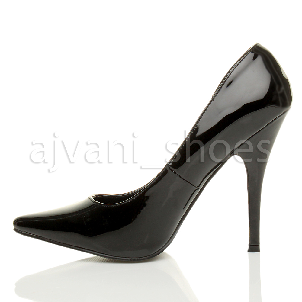 mens womens high heel pointed stiletto court shoes
