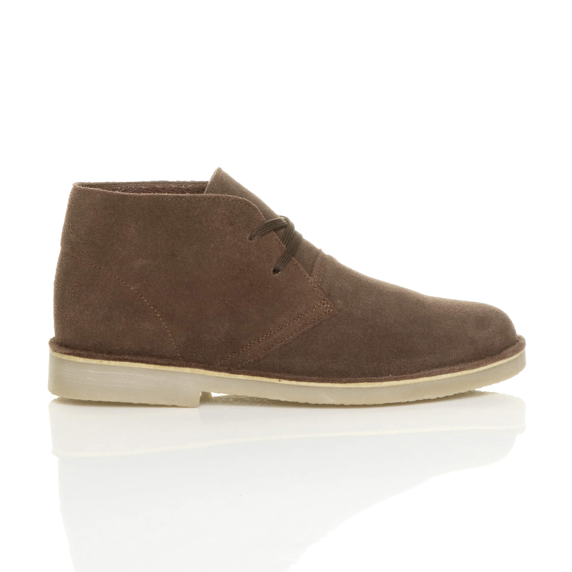 mens lace up classic suede leather desert work ankle flat