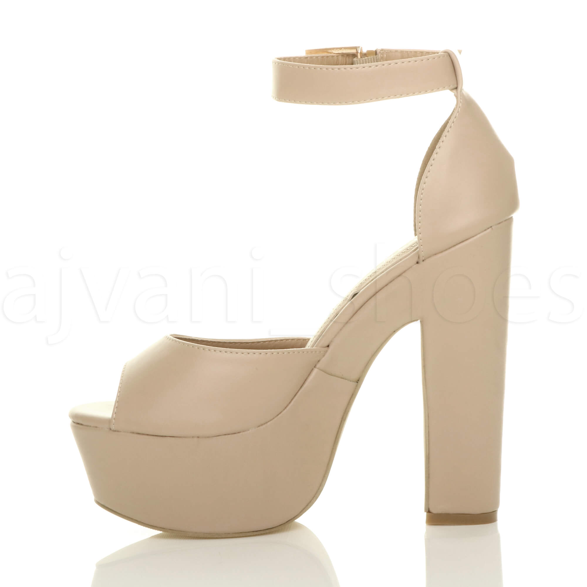 WOMENS-LADIES-HIGH-HEEL-PLATFORM-ANKLE-STRAP-PEEP-TOE-SHOES-PARTY-SANDALS-SIZE