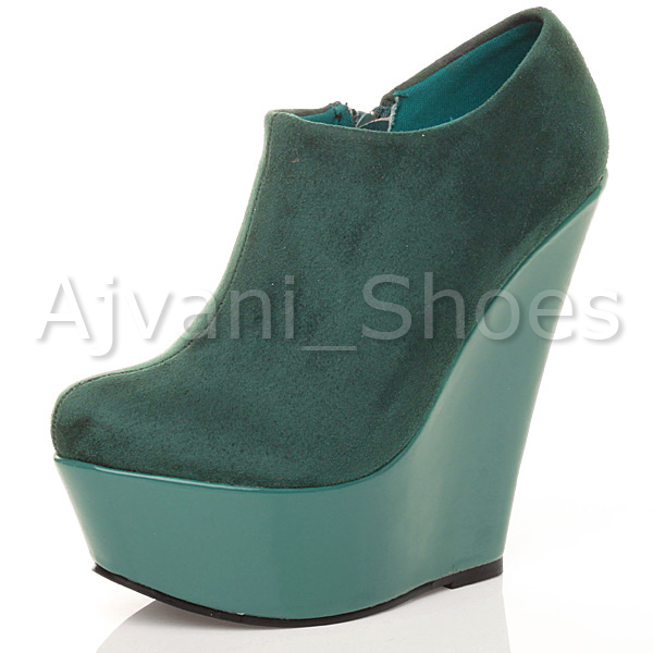 WOMENS-LADIES-HIGH-HEEL-WEDGE-PLATFORM-ZIP-PARTY-ANKLE-SHOES-BOOTS-BOOTIES-SIZE