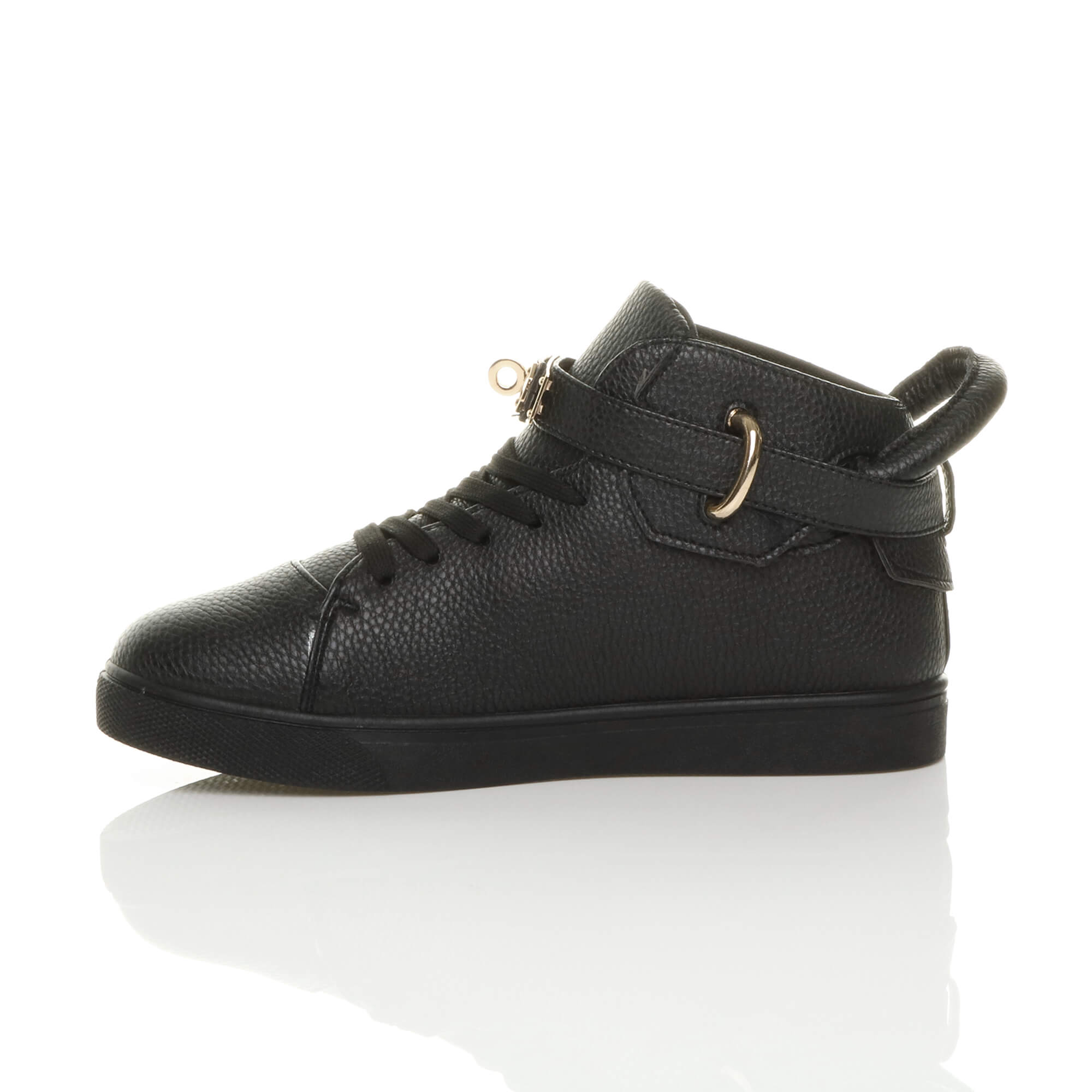 WOMENS LADIES FLAT LACE UP HI HIGH TOP ANKLE TRAINERS BOOTS SHOES SNEAKERS SIZE