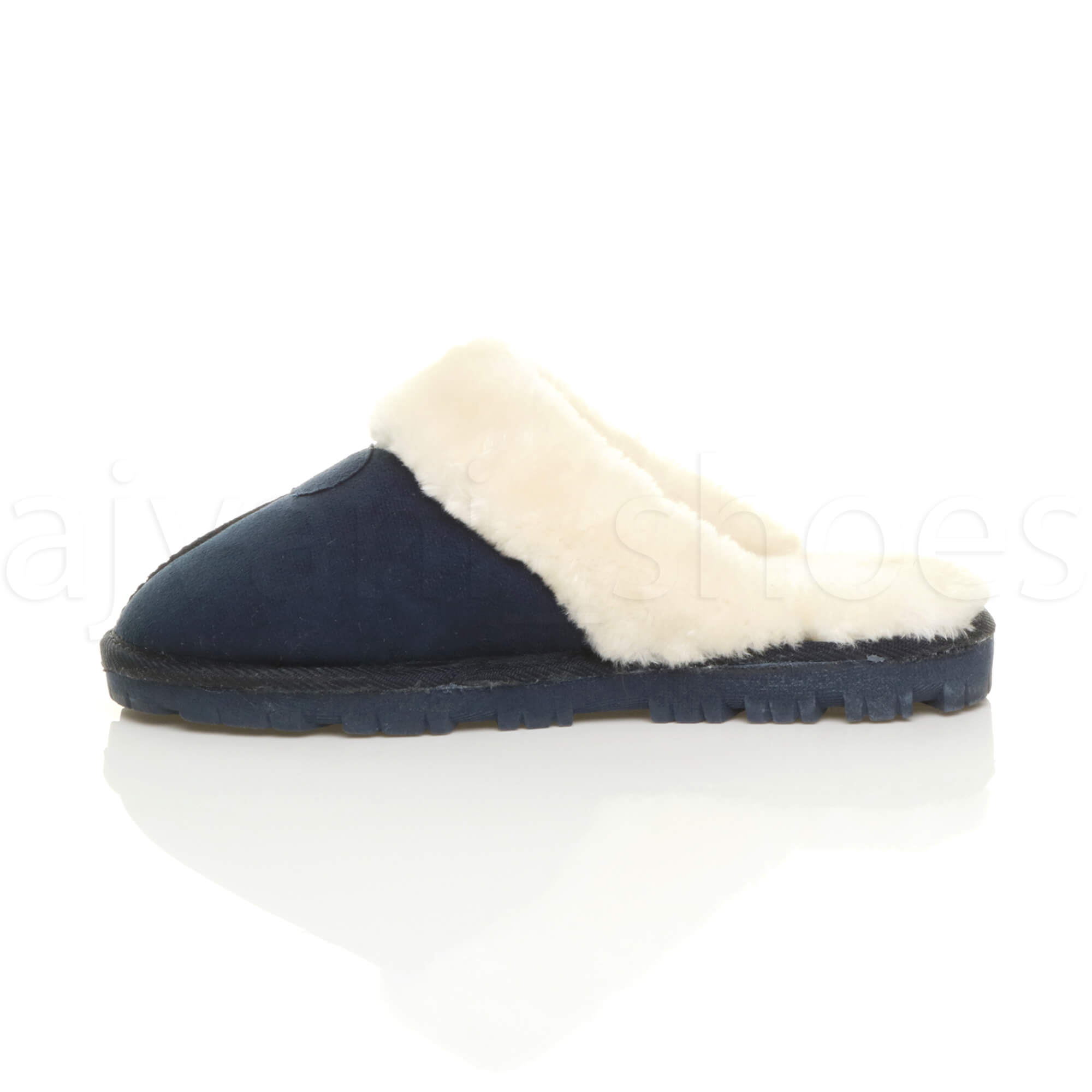 femmes hiver doubl e de fourrure luxe confort plat pantoufles chaussons pointure ebay. Black Bedroom Furniture Sets. Home Design Ideas