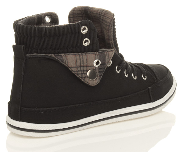 WOMENS-LADIES-FLAT-LACE-UP-SPORTS-HIGH-HI-TOP-PUMPS-TRAINERS-SHOES-SIZE