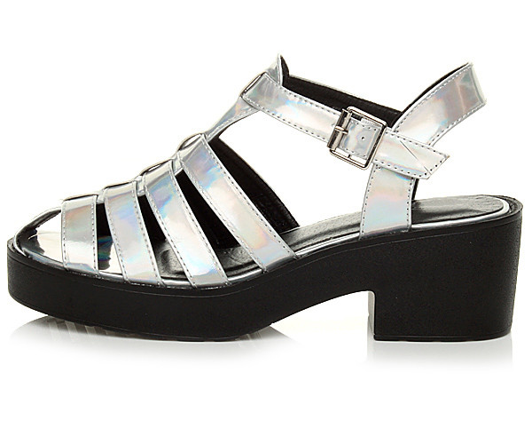 WOMENS BLOCK CHUNKY HEEL STRAPPY GLADIATOR CUT OUT PLATFORM SANDALS SHOES SIZE