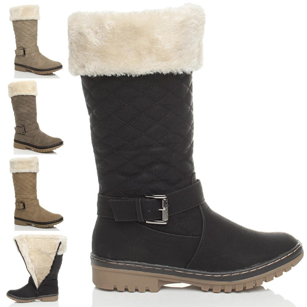 femmes filles bottes hiver neige doublure fourrure. Black Bedroom Furniture Sets. Home Design Ideas