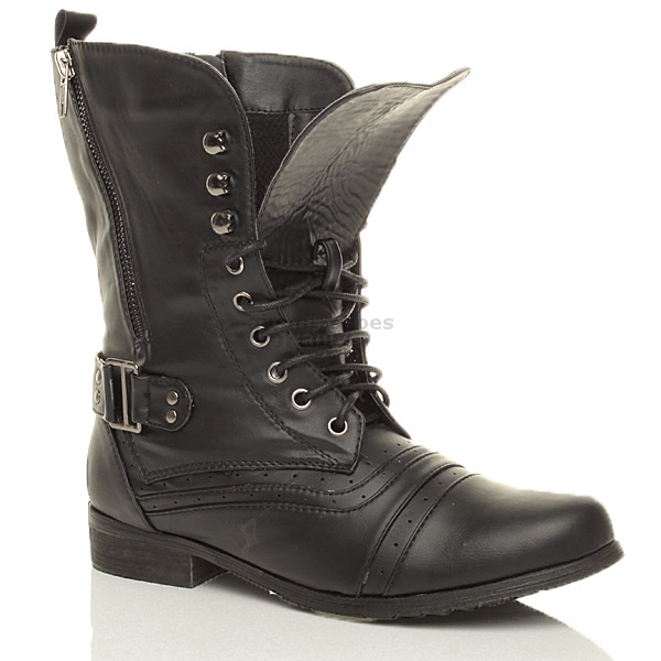 Cool Black Combat Boots Women Buckle Ptbcigcd  FOOTWEARPEDIA