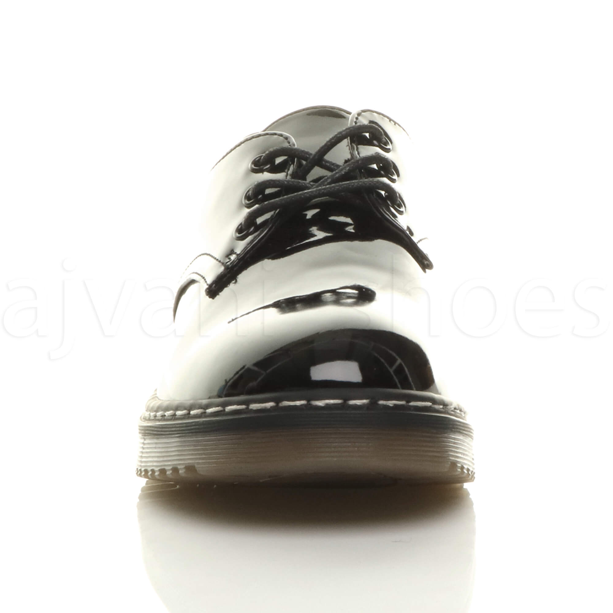 WOMENS LADIES LOW HEEL CHUNKY MILITARY GOTH GRUNGE 90s LACE UP OXFORD SHOES SIZE
