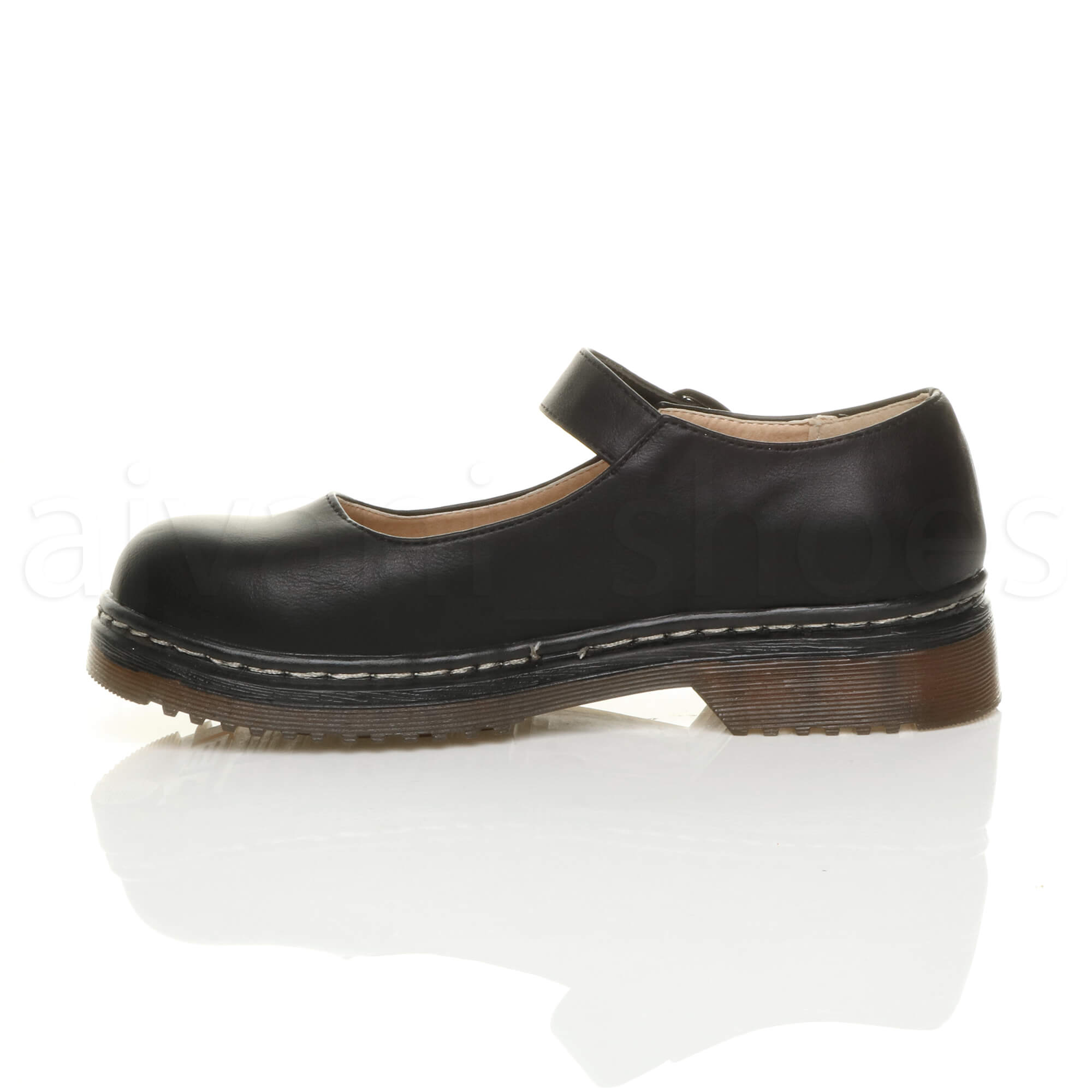 WOMENS-LADIES-LOW-HEEL-CHUNKY-BUCKLE-MARY-JANE-STRAP-SMART-WORK-SHOES-SIZE