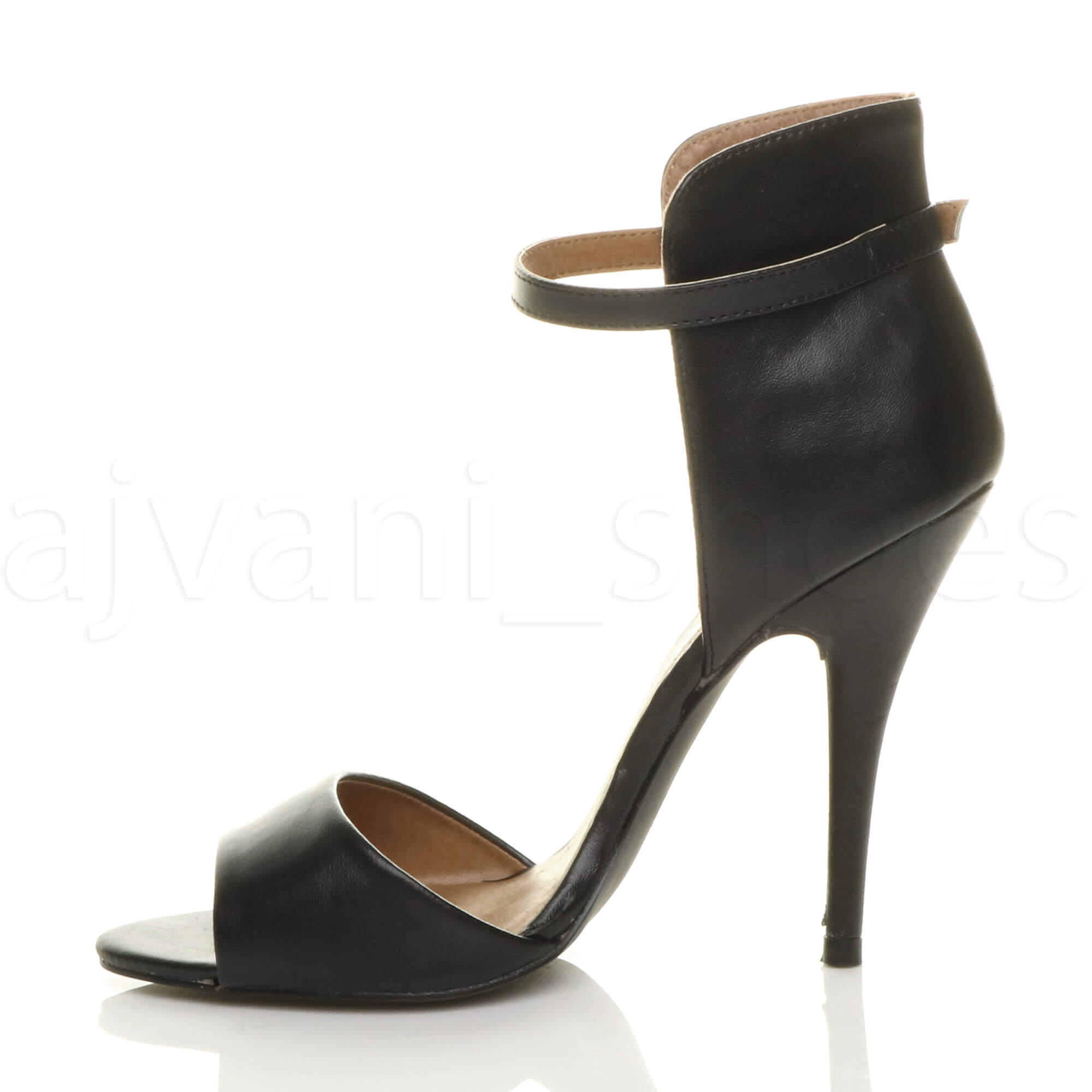 WOMENS-LADIES-HIGH-HEEL-STILETTO-PEEP-TOE-ANKLE-STRAP-CUFF-SANDALS-SHOES-SIZE
