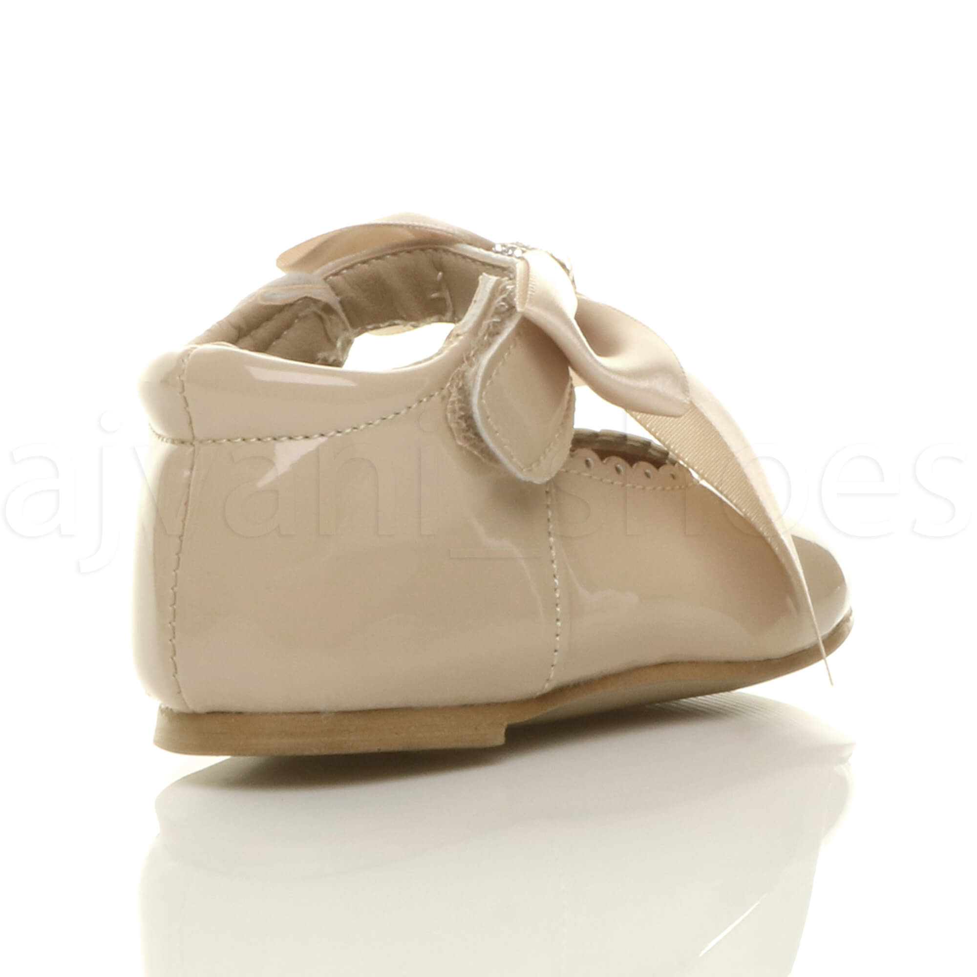 GIRLS INFANTS CHILDRENS RIBBON BOW SCALLOPED BRIDESMAID PARTY MARY JANE SHOES