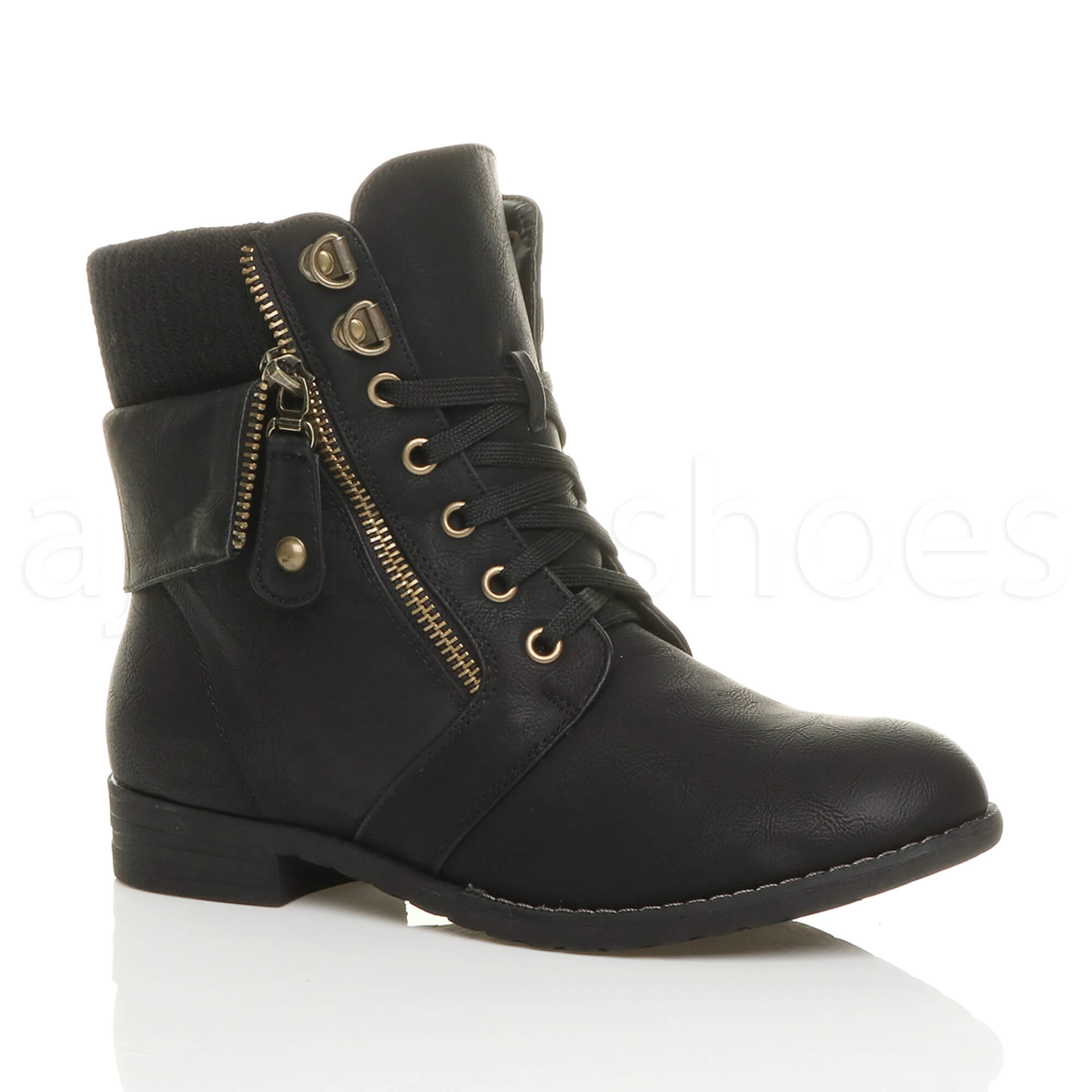 Creative Alice 2 Women Low Heel Knight U0026 Military Ankle Combat Boots British Style | EBay